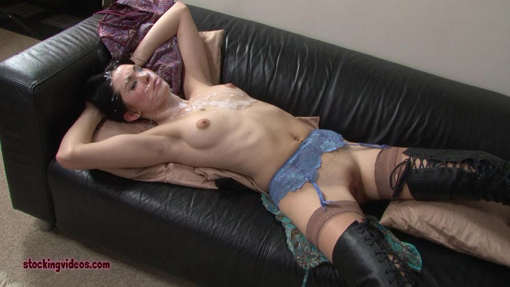 Cum Covered Stockings 89