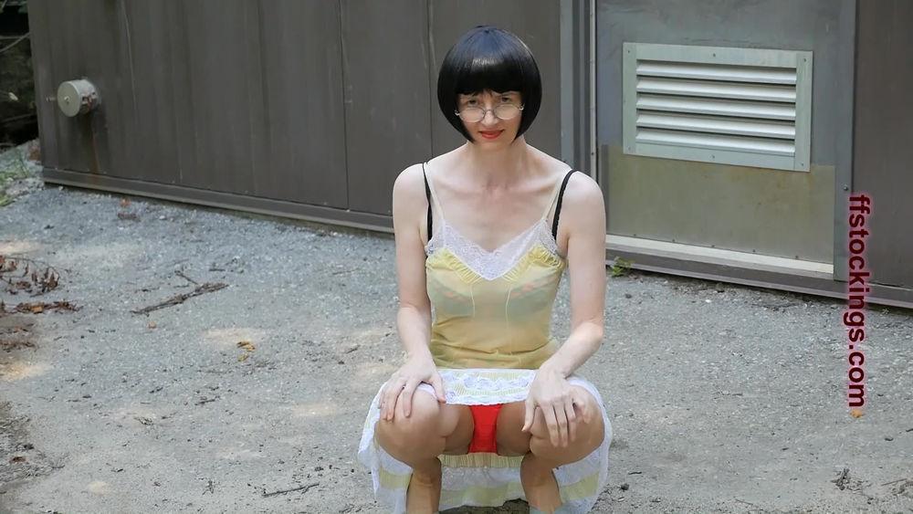full34 Lesbo Panty Peeing Humiliation