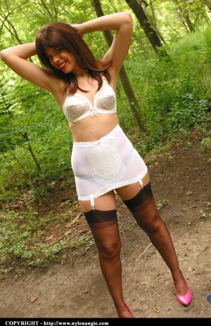 Angie stockings dirty