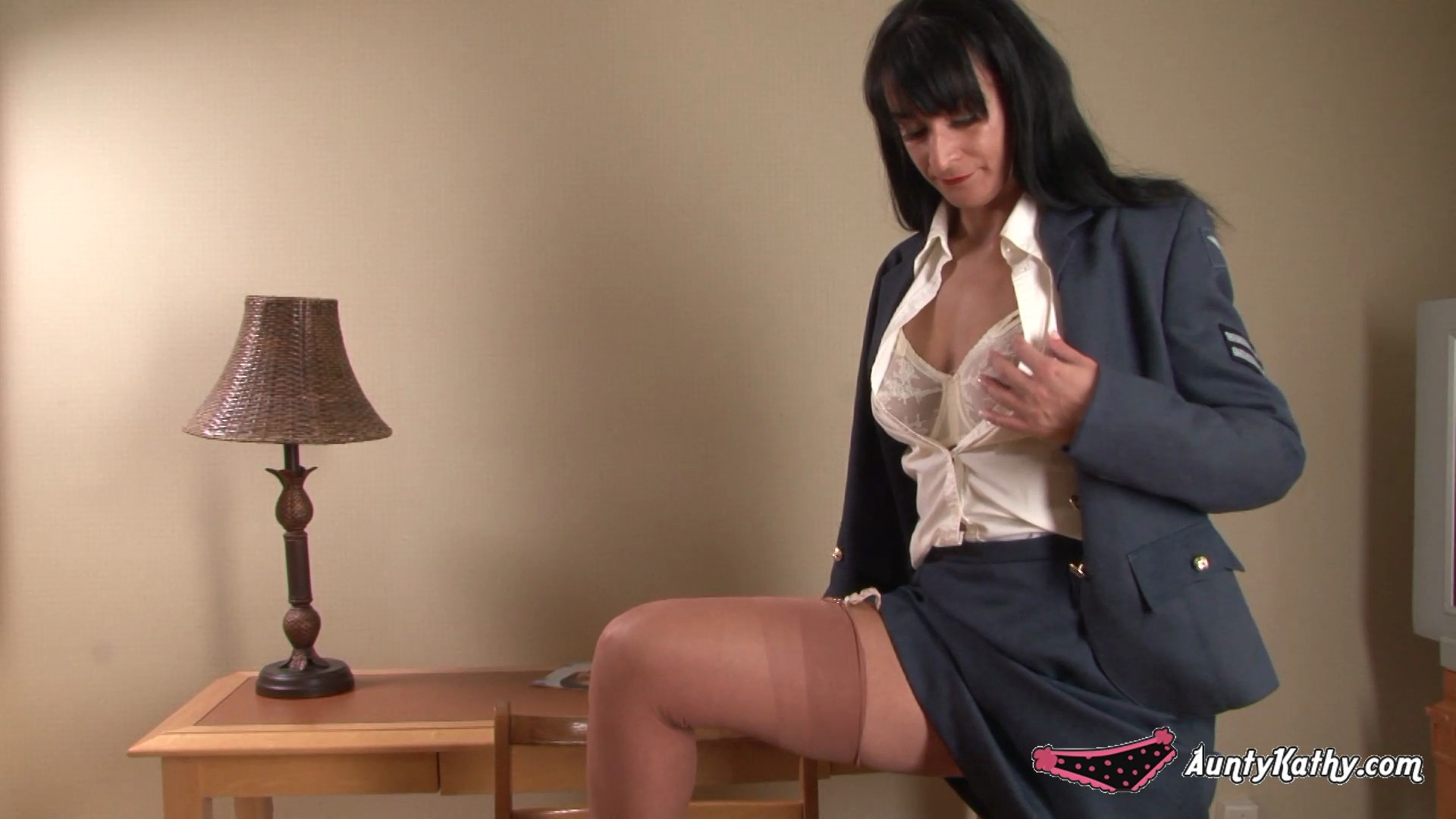big ass aunty kathy straighten up and fly right | the stocking girls