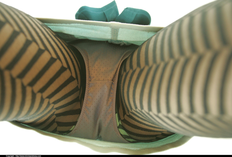 Satin panties and designer pantyhose