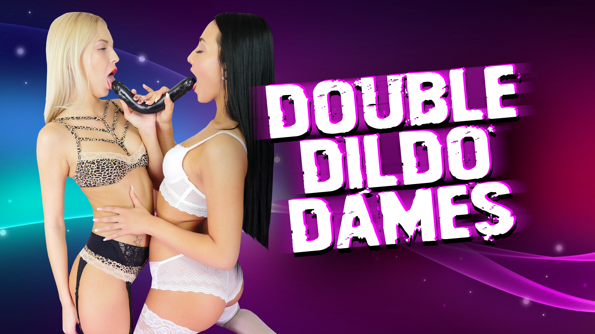 Anna and Karol and their huge double dildo